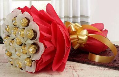 chocolates bouquet for mother