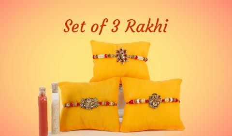 Set of 3 Rakhi to Australia