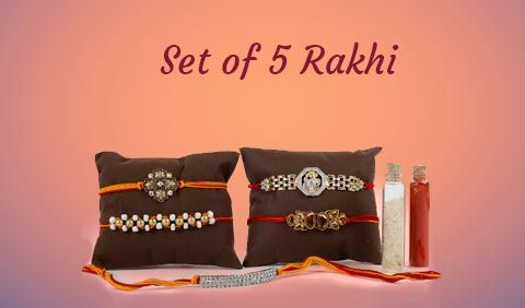 Set of 5 Rakhi to Australia