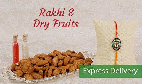 Rakhi and dryfruits