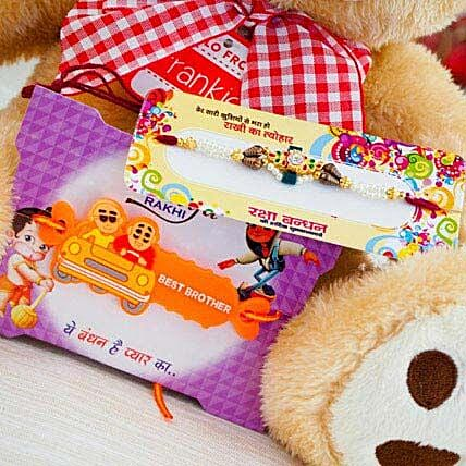 Super Hiro Two Rakhi with Teddy Bear