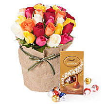 30 Mixed Roses Bouquet: Anniversary Flowers to Australia
