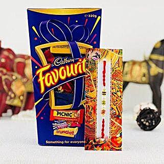 Beads Rakhi And Cadbury Combo: Rakhi and Chocolates to Australia