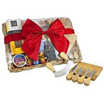 Cheese Set Picnic Basket: Send Birthday Gifts to Brisbane