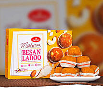 Delicious Besan Ladoo 400g: Send Birthday Gifts to Sydney