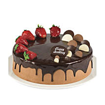 Double Chocolate Strawberry Cake: Cake Delivery in Brisbane
