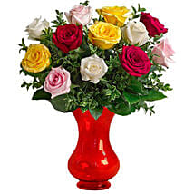 Dozen Assorted Roses: Send Birthday Gifts to Adelaide