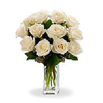 Dozen White Roses: Flowers to Victoria