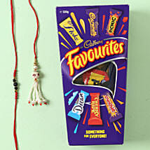 Family Two Rakhi Set with Cadbury Favourite: Send Rakhi to Melbourne