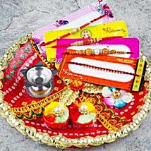 Hamara Parivar Four Rakhi Set with Puja Thali: Send Rakhi to Melbourne