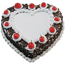 Heart Shaped Black Forest Cake: Send Cakes to Australia