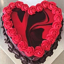 Heart Shaped Red Marble Cake: Valentine's Day Cake Delivery in Australia