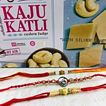 Ik Onkar Rakhi Set With Kaju Katli: Rakhi Delivery in Australia