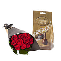 Lovely Red Roses With Chocolates: Flowers N Chocolates to Australia
