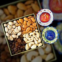 Mix Dry Fruit 400g With Traditional Diya: Diwali Gifts to Australia