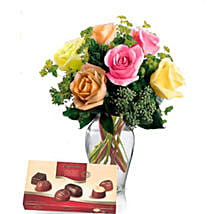 Premium Love Combo: Flowers N Chocolates in Australia