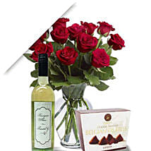 Roses With Wine N Truffle: Anniversary Roses in Australia
