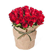 Ruby Red Roses Bouquet: Send Anniversary Flowers to Australia