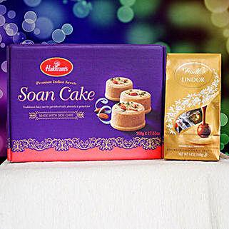 Soan Cake With Lindt Chocolate: Diwali Gifting in Australia