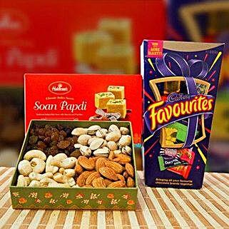 Soan Papdi Mix Dry Fruit and Cadbury Favourites: Birthday Gifts to Australia