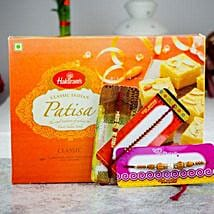 Super Three Rakhi Set With Kaju Katli: Send Rakhi to Melbourne
