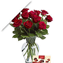 Valentine Roses With Chocolates: Flower Bouquets to Australia