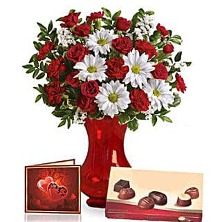 Valentine Special Flowers N Chocolates: Send Anniversary Flowers to Australia