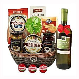 Season Greeting with White Wine: Send Gifts to Austria