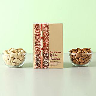 Healthy And Crunchy Rakhi Gift For Brother: Send Rakhi to Bahrain