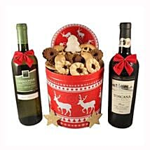 Christmas Unlimited Cookies Gift Basket: Send Gifts to Belgium