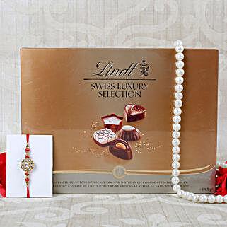 Royal american Diamond Lindt Chocolate Hamper: Send Rakhi to Belgium