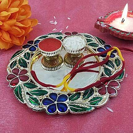 Floral Thali Of Good Wish