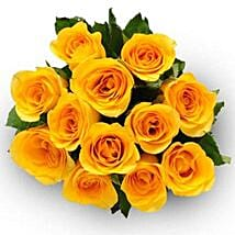 12 Yellow Roses: Flower Bouquets to Canada