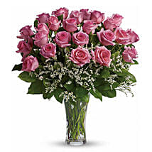 24 Pink Roses: Thinking of You Flowers to Canada