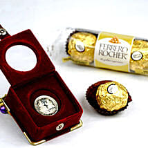 3 Ferrero Rocher And Silver Coin: Chocolate Delivery Canada