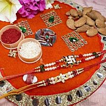 Amazing Set Of Two Thali With Almond: Rakhi to Calgary