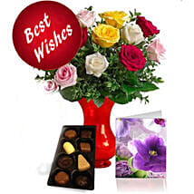 Best Wishes Roses N Chocolates: Flower Arrangements to Canada