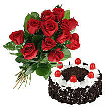 Black Forest Cake N Roses: Flowers with Cakes to Canada