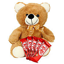 Brown Teddy N Chocolate Combo: Valentine's Day Chocolates to Canada
