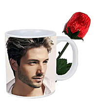 Choco Rose and Personalized Mug Combo: Send Anniversary Gifts to Canada