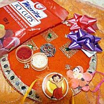 Chota Bheem Rakis Set Of Two Thali with Icy Cups: Rakhi to Calgary