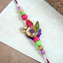 Colourful Zardozi Rakhi: Send Rakhi to Calgary