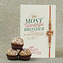 Designer Rakhi And Ferrero Rocher: Rakhi and Chocolates to Canada