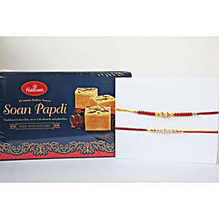 Dual Rakhi N Soan Papdi: Send Rakhi to Brampton