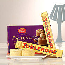 Duo Toblerone Bars N Soan Cake: Valentine's Day Gift Delivery in Canada
