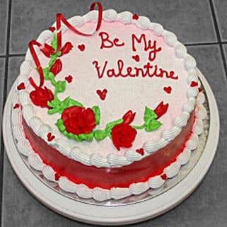 Eggless Valentine Vanilla Cake: Cake Delivery in Canada