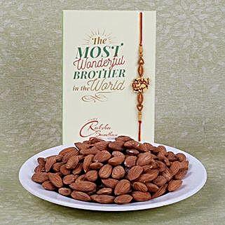 Gorgeous Rakhi With Almonds: Rakhi for Brother to Canada