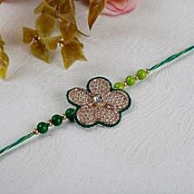 Green Floral Rakhi: Send Rakhi to Mississauga
