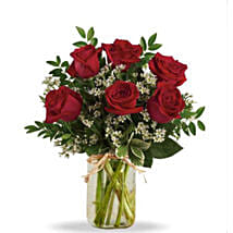 Half Dozen Red Roses: Valentine's Day Flowers to Canada