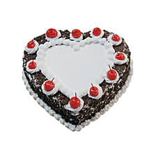 Heartshape Black Forest Cake 500GM: Anniversary Cakes to Canada